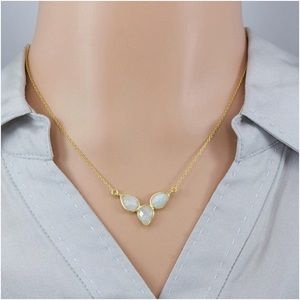 Jewelry - Sterling Silver Pear Natural Moonstone Necklace